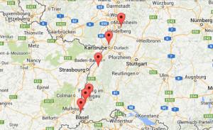 Standorte der Schwimmschule Weiss